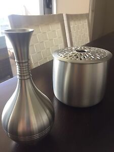 Pewter vases/accessories Cammeray North Sydney Area Preview