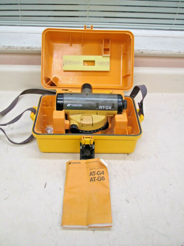 Topcon AT-G4 Automatic Auto Level for Surveying w/ Manual & Case Used #1