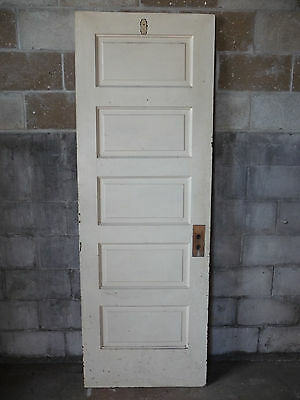 Antique Craftsman Style Interior Door - Circa 1910 Fir Architectural Salvage