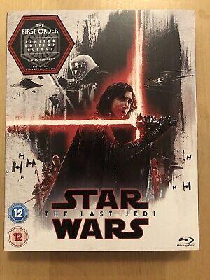 Star Wars: The Last Jedi (Blu-Ray, 2 Discs, 2017) - LIMITED EDITION SLEEVE