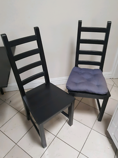 2 chairs dark wooden