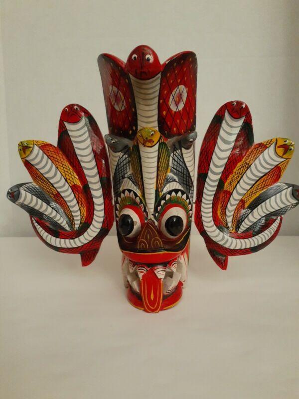 "Handcrafted Sir Lanka Wood ""Cobra Mask"""