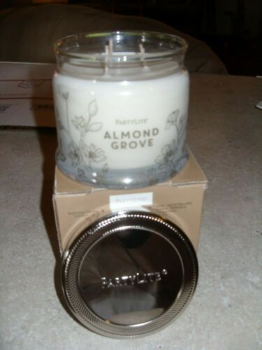 Partylite ALMOND GROVE SIGNATURE 3-wick JAR CANDLE  BRAND NEW