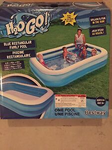FAMILY SIZE POOL with air pump