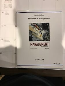 Custom book for BMGT 152 for Humber