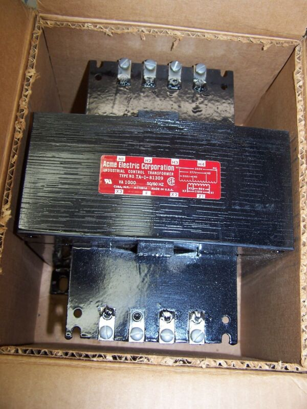 NEW ACME 1000 VA 1 KVA TRANSFORMER 208 PRIMARY 115 VOLT SECONDARY TA-1-81309