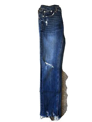 Zara Women's Denim Jeans Size 10  Ripped , Excellent Conditions