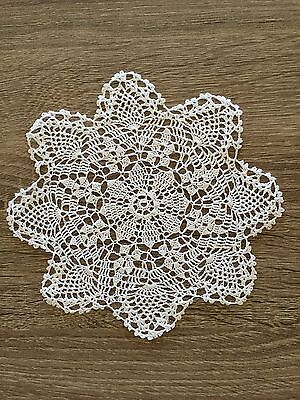 """5"""" Inch Round Cotton Crochet Lace Doily Handmade White Doilies Coaster Lot of 24"""