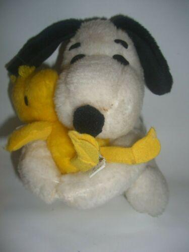 Vintage knickerbocker Snoopy Hugging Woodstock Plush