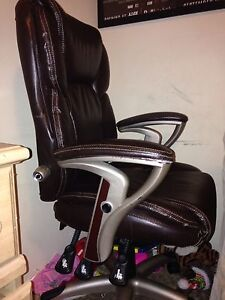 Leather office chair mint