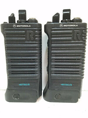 Lot Of 2 Motorola Astror Saber Vhf P25 Portable Handheld Radios 146-174mhz