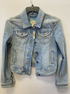 Abercrombie & Fitch Womens Jean Jacket Size L NWT
