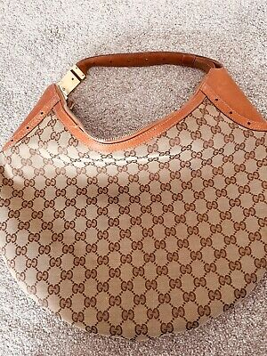 Authentic Gucci Monogram Hobo Bag Used