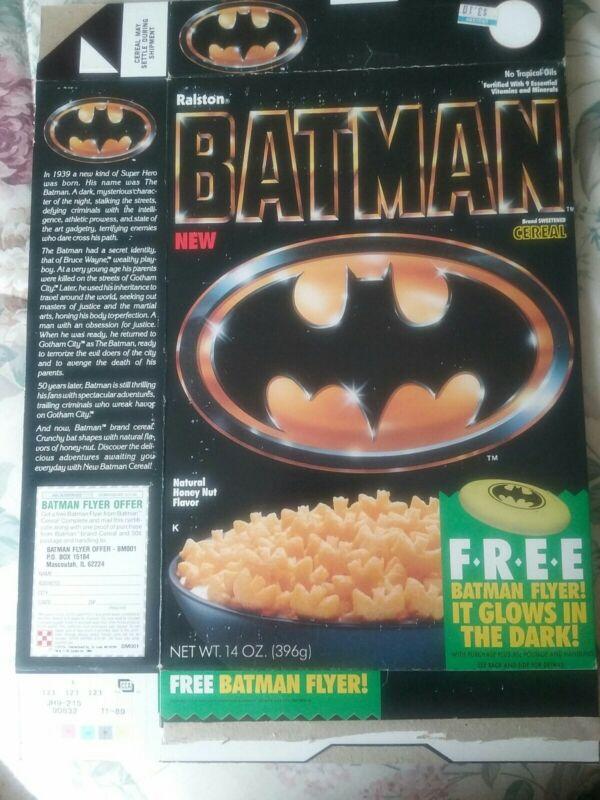 1989 Batman Cereal Box - Ralston