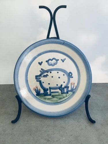 """M A Hadley country pattern  11"""" dinner plate pig"""