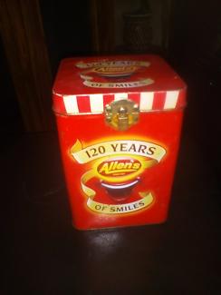 Allens collectable tin
