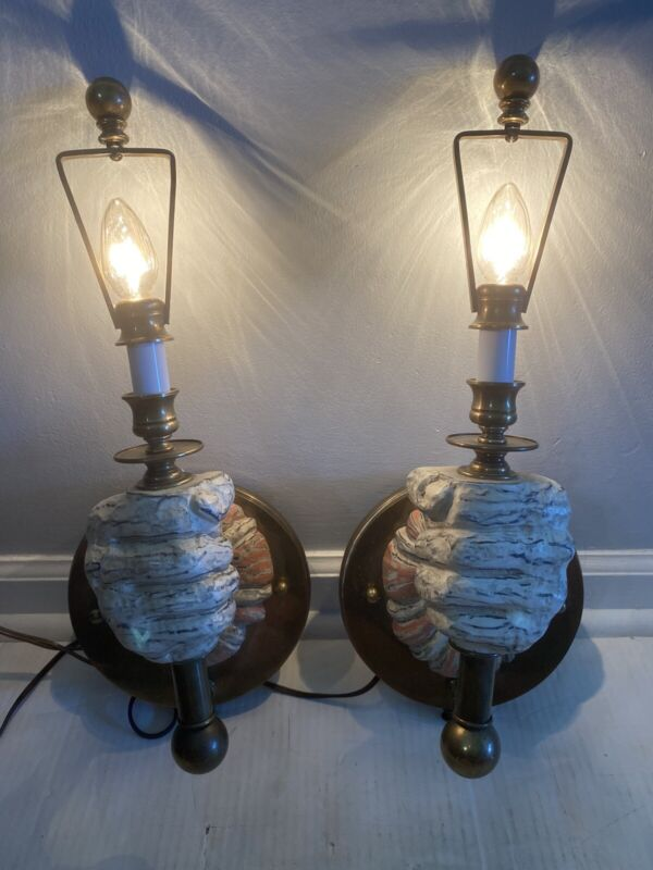 Pair of Hart Associates Hand Sconces Mid-Century Hollywood Regency