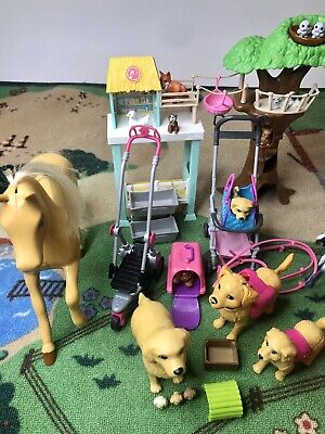 Barbie Mixed Lot Horses Dogs Puppy + Plus Animal Rescuer + accessories more