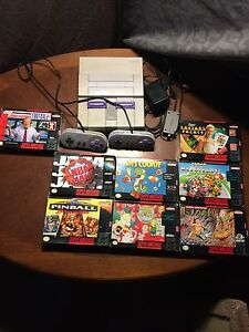 SNES bundle with 8 games.