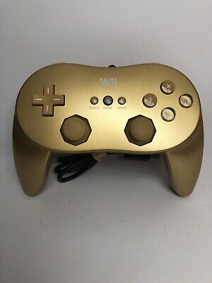 Official OEM Genuine Nintendo Wii & U Brand Classic Controller Pro Gold RVL-005
