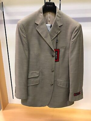 NWT Steve HARVEY 42R Taupe Stacy Fashion Solid Exotic Adams Suit 2PC Sharkskin for sale  Seaford