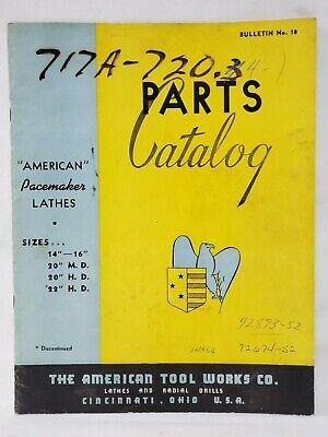 American Pacemaker Lathe Parts Manual Bulletin No. 18