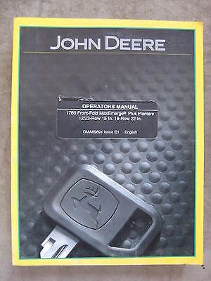 John Deere 1780 Front Fold 12 23 16 Row Planter Operators Manual Jde1