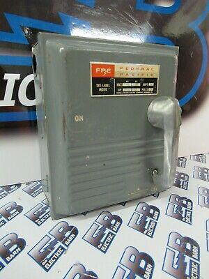 Fpe 5336 30 Amp 600 Volt 3p3w Vintage Disconnect