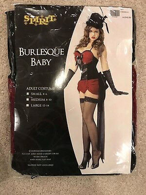 NEW Moulin Rouge Burlesque Dancer Sexy Costume Adult Womens Small 4 6 Halloween](Burlesque Halloween Costumes For Women)