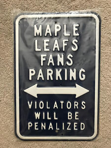 Maple Leafs parking sign.