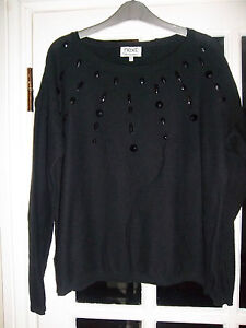 gorgeous next black  studed jumper UK 14 IN EXCELLENT CONDITION