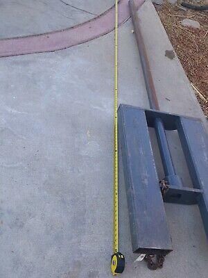 Forklift Carpet Loader Attachment Used.