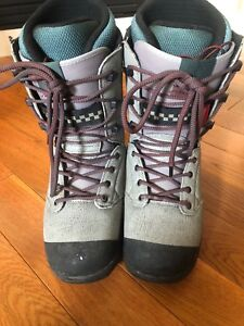 Grey snowboard boots size 9.5