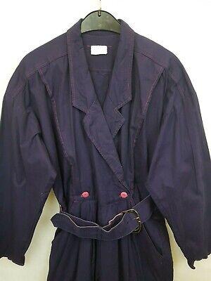 Unbranded Ladies vintage jumpsuits long sleeve belted purple cotton size 02