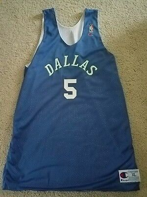 cdff1a802d3c Jason Kidd 1994-95 Rookie Game Used Dallas NBA Practice Jersey Certified  Miedema