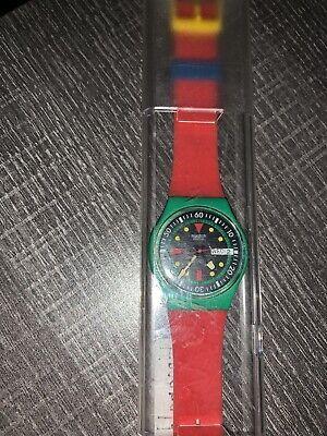 Vintage Swatch Watch 1986 Emerald Diver GG703