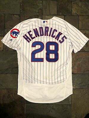 85a8c31c10b712 2017 Kyle Hendricks Chicago Cubs game used worn home jersey - worn for 2  wins!!!