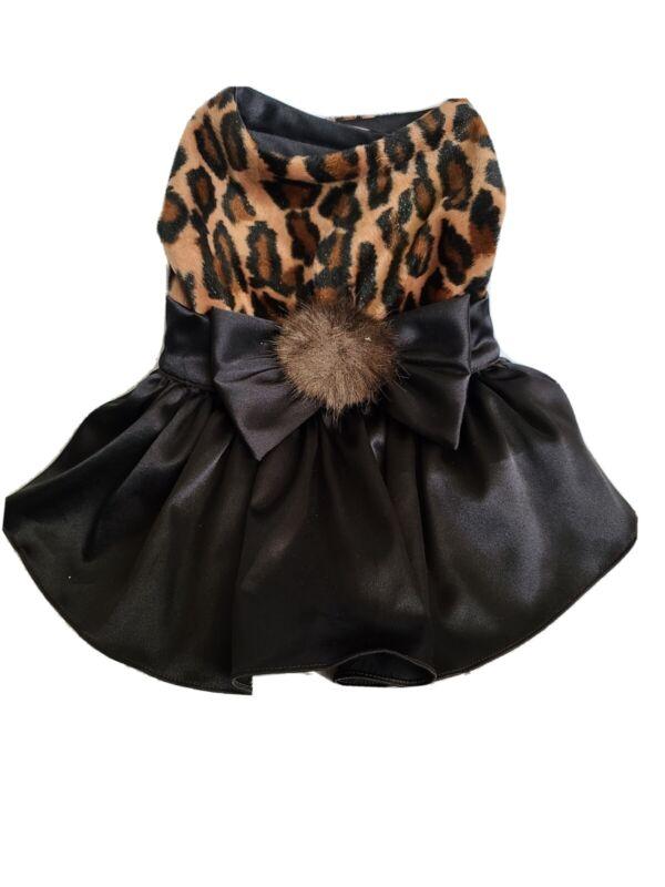 Black And Brown Leopard Dog Dress