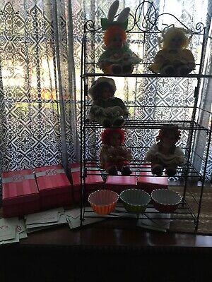 Marie Osmond Dolls RAG A MUFFIN BAKERS RACK Metal Display Stand Shelf Lot 5
