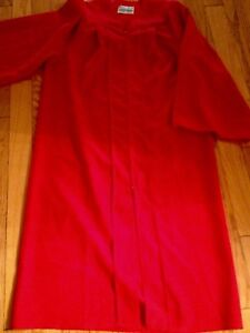 GRADUATION RED GOWN, BRAND NEW ADULT SIZE