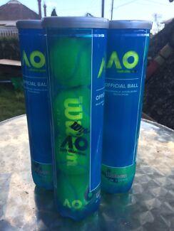 Brand new unopened tennis balls