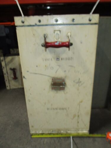 "Frank Adam Klampswfuz 400a 3p 240v Vert Mount ~28""h X 11""w Bolt-on Switch Used"