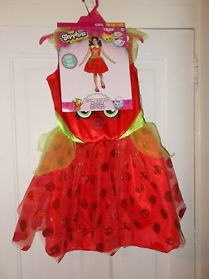 Girls Size Small (4-6) OR Medium (8-10) Shopkins Strawberry Kiss 2-Piece Costume](Kiss Costumes For Girls)