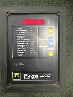 Square D Power Logic Circuit Monitor 3020 Cm-2250 3020 Iom-44 Used