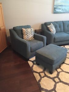 Accent chair with ottoman and accent pillow (best offer)