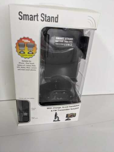 Smart Stand With Charger, Hands Free Bluetooth & FM Transmitter