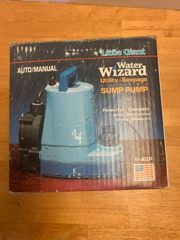 5-MSP 505000 Little Giant Submersible Utility Sump Pump 5MSP 1/6-HP