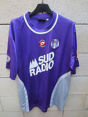 VINTAGE Maillot TOULOUSE TFC Lotto SUD RADIO 2004 football shirt trikot L image