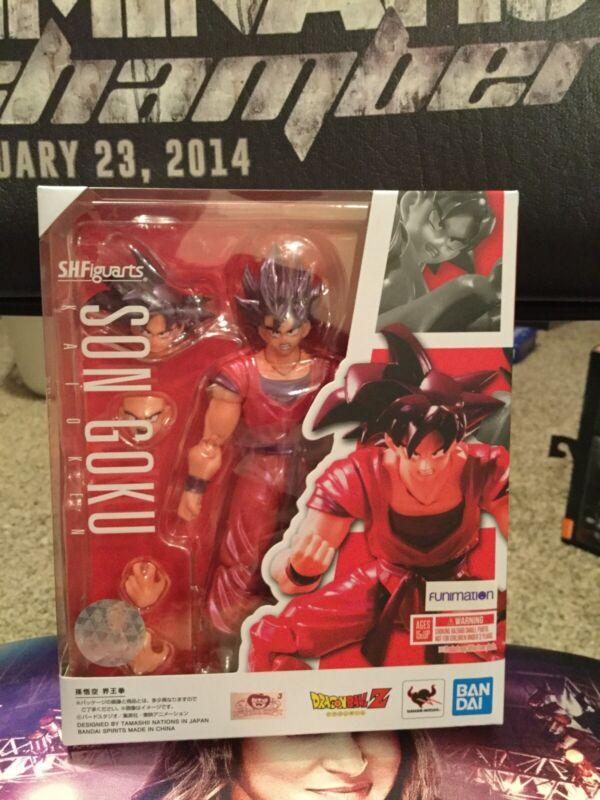 New Sealed Authentic Son Goku Kaioken - S.H.Figuarts- Slight Box Damage DBZ