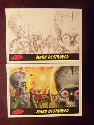 2017 Topps MARS ATTACKS: The Revenge Complete 110 Card Set 1-55 & P1-P55 w/ BOX
